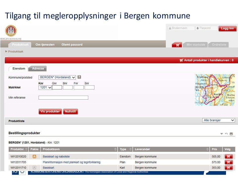 Tilgang til megleropplysninger i Bergen kommune