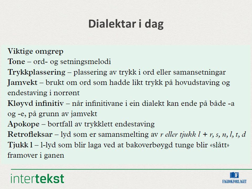 Dialektar i dag