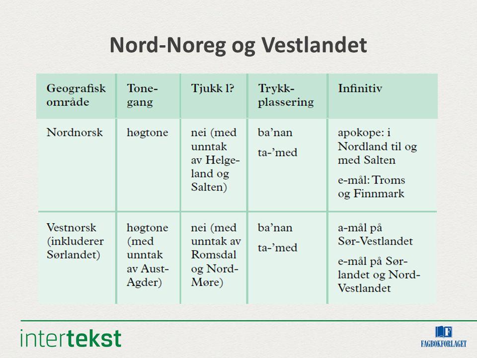 Nord-Noreg og Vestlandet