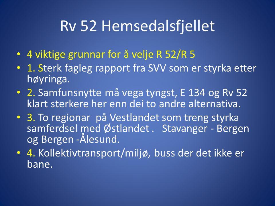 Rv 52 Hemsedalsfjellet 4 viktige grunnar for å velje R 52/R 5 1.