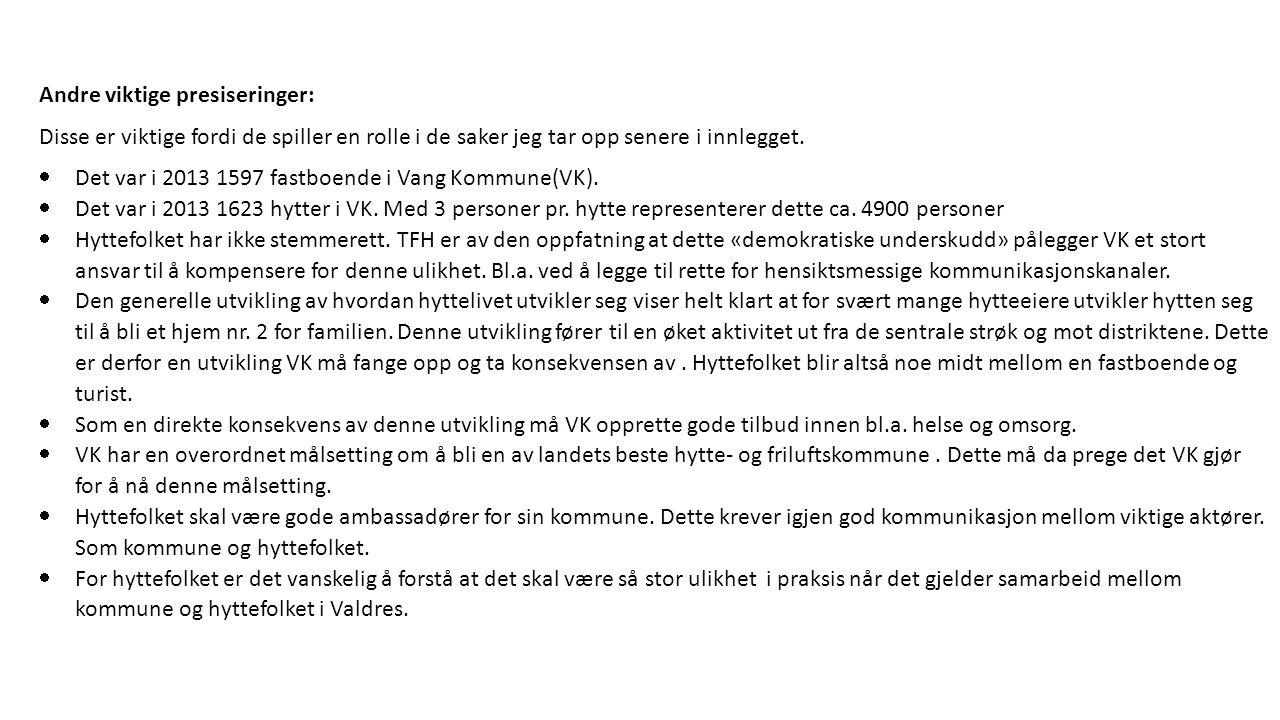 Hva er viktig for hyttefolket i Vang Kommune.
