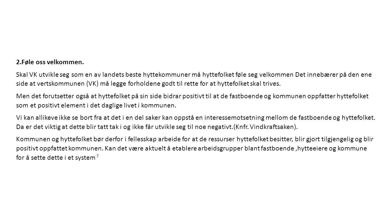 Hva er viktig i forholdet mellom Vang Kommune og TFH.