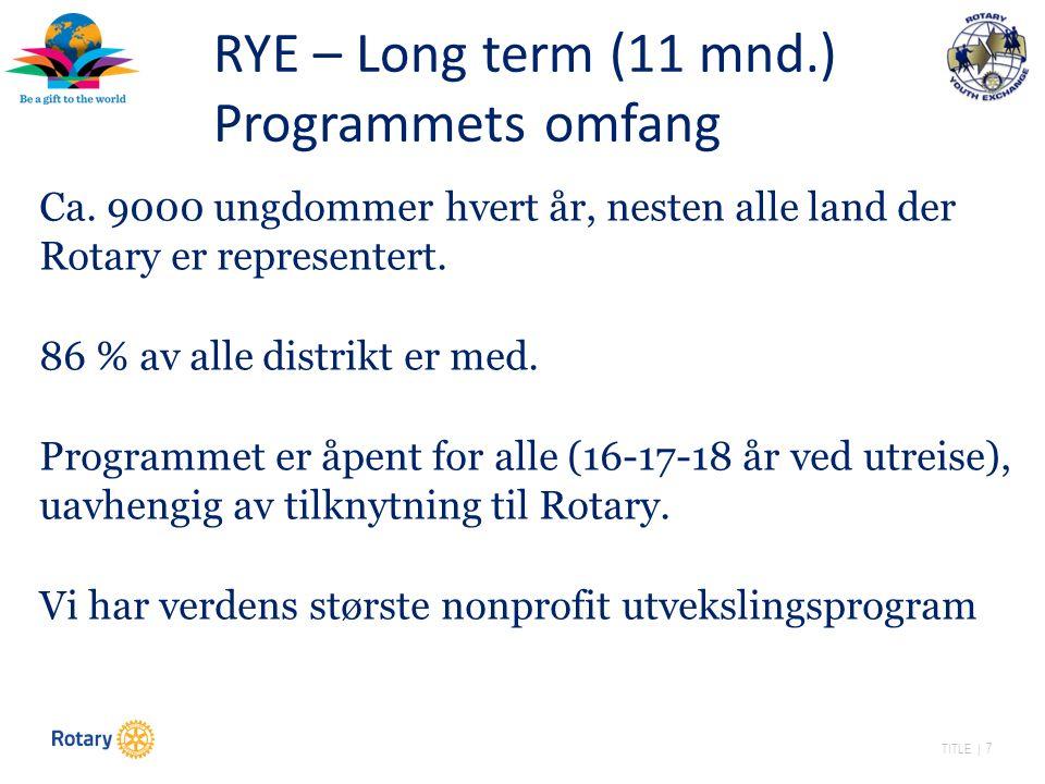 TITLE | 7 Ca. 9000 ungdommer hvert år, nesten alle land der Rotary er representert.