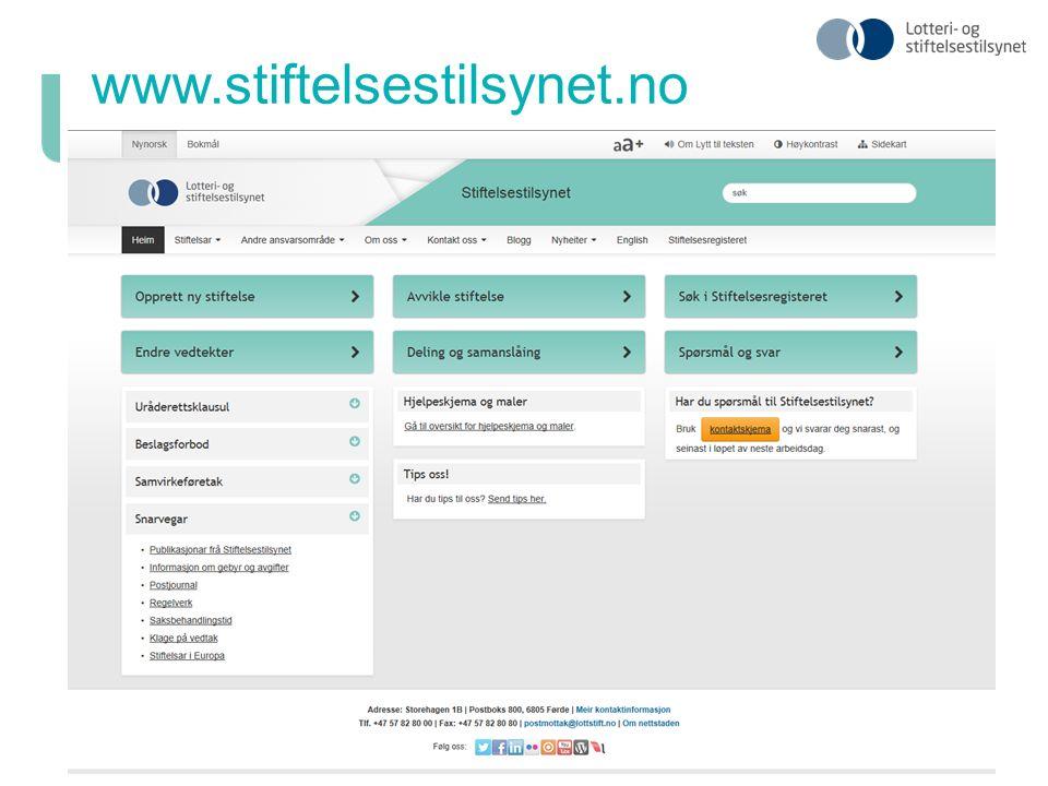 www.stiftelsestilsynet.no