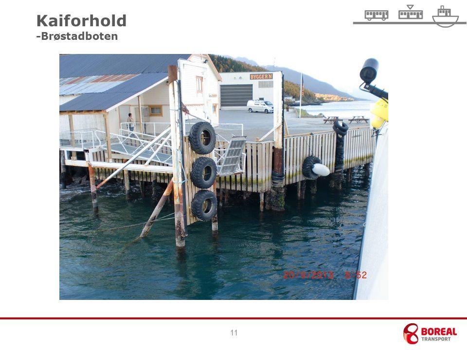 11 Kaiforhold -Brøstadboten