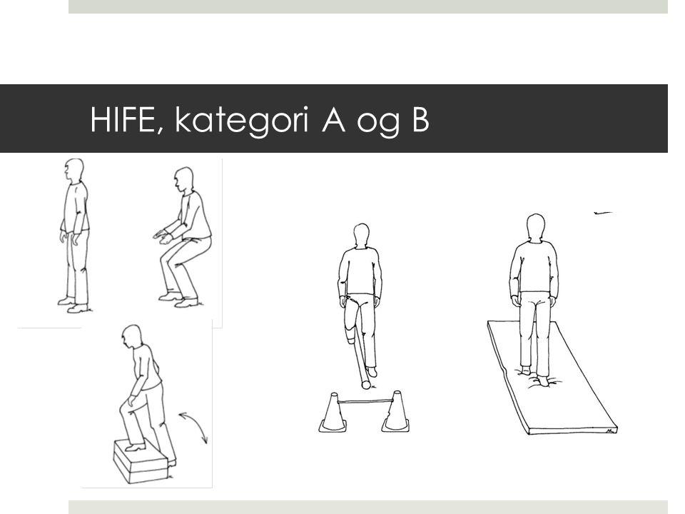 HIFE, kategori A og B