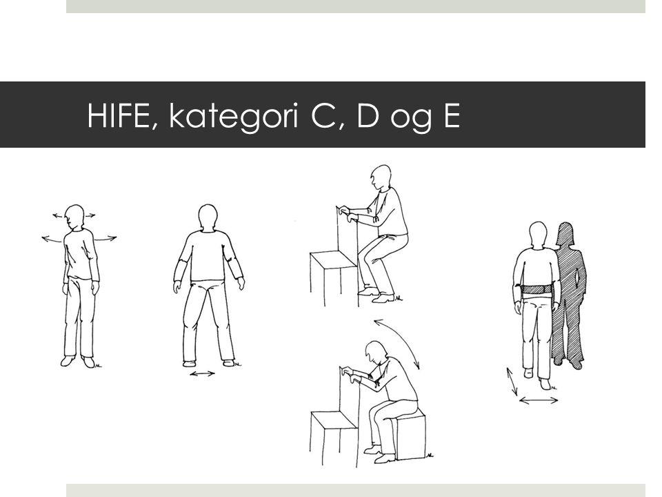 HIFE, kategori C, D og E