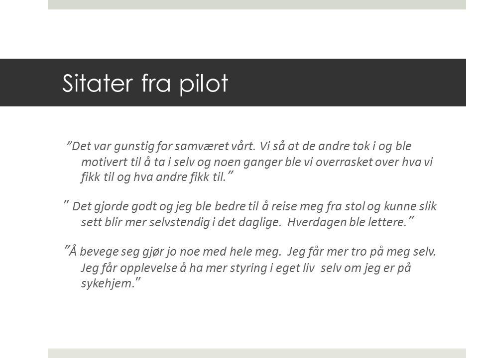 Sitater fra pilot Det var gunstig for samværet vårt.