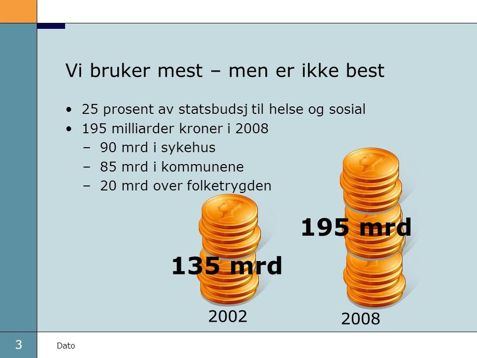 4 Dato God helse, men store forskjeller Helse er ulikt fordelt blant folk i Norge Sosiale helseforskjeller øker Kroniske lidelser er mest utbredt i grupper med: –kort utdanning –lav inntekt –blant eldre