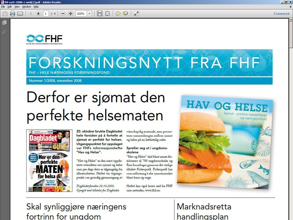 Blå helsejakt Helse og kosmetikk har alltid vært god butikk, og i dagens avis forteller vi historiene om flere blå biomarine FOU-prosjekter.