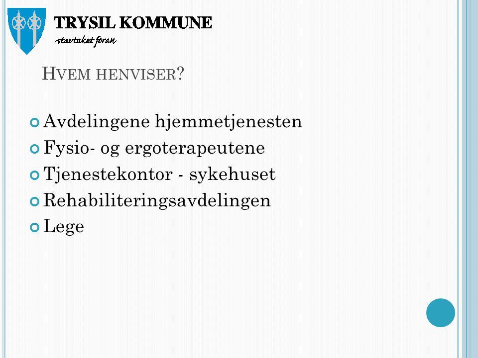 H VEM HENVISER .