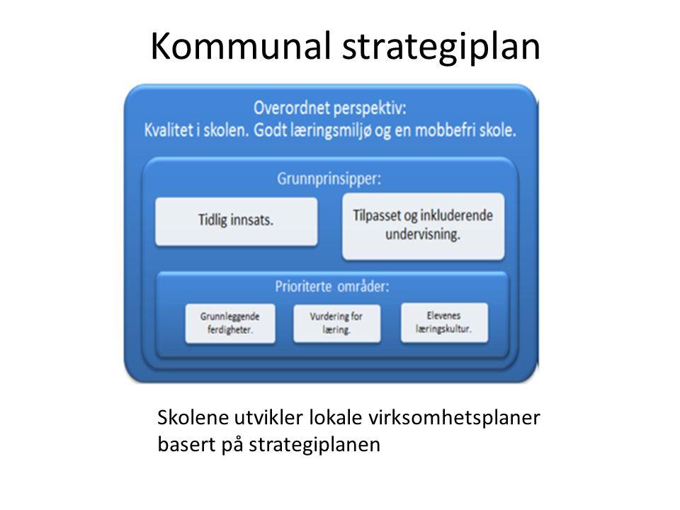 Kommunal strategiplan Skolene utvikler lokale virksomhetsplaner basert på strategiplanen
