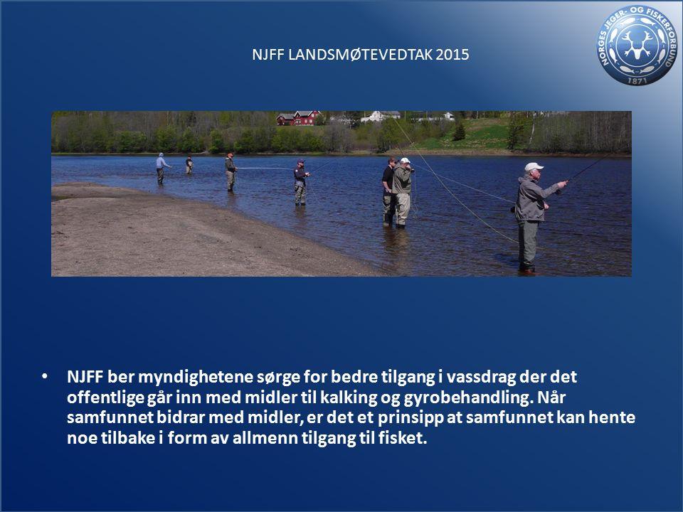 NJFF ber myndighetene sørge for bedre tilgang i vassdrag der det offentlige går inn med midler til kalking og gyrobehandling.