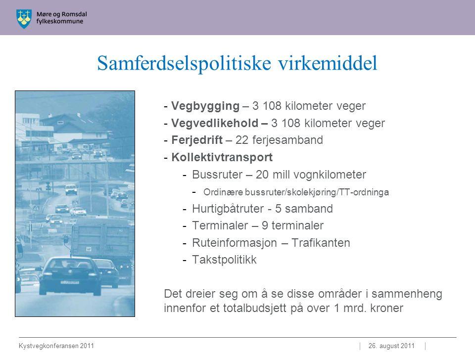 Takk for oppmerksomheten.Samferdselssjef Arild Fuglseth Møre og Romsdal fylkeskommune 26.
