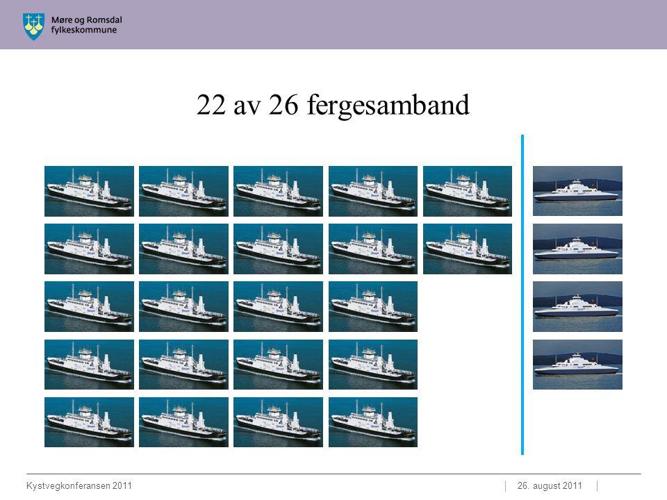 22 av 26 fergesamband 26. august 2011Kystvegkonferansen 2011