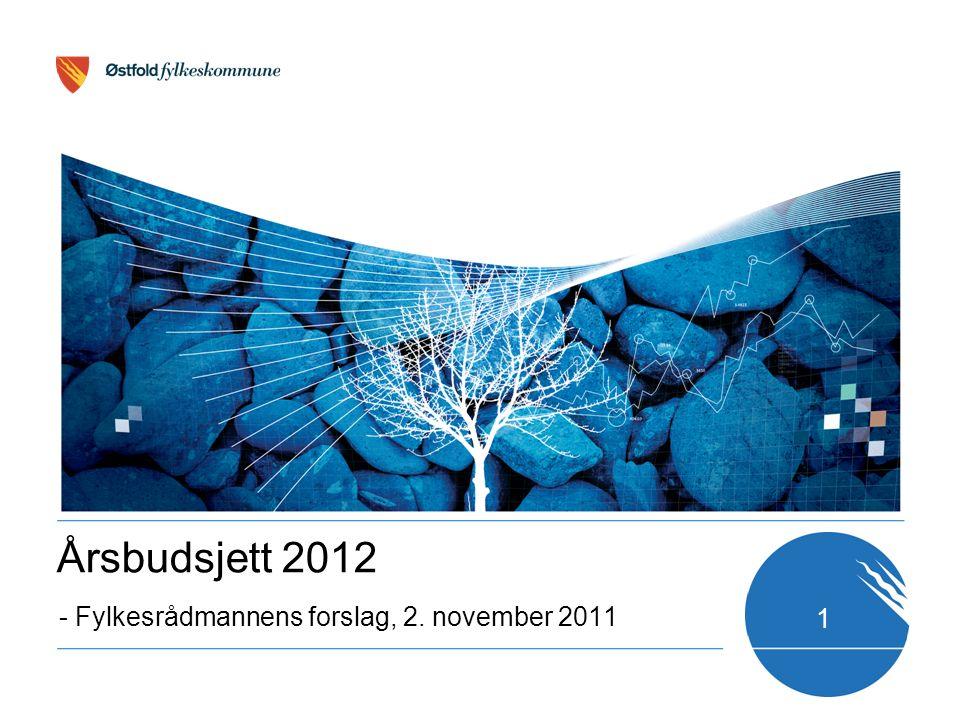 1 - Fylkesrådmannens forslag, 2. november 2011 Årsbudsjett 2012