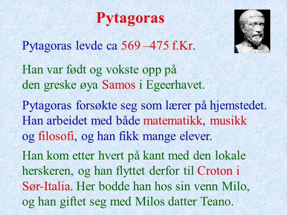 Pytagoras' setning Undervisningsopplegg laget av Johan Nygaard for Vitenfabrikken i Sandnes
