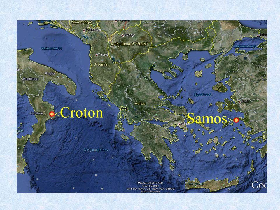 Pytagoras Pytagoras levde ca 569 –475 f.Kr. Pytagoras forsøkte seg som lærer på hjemstedet.