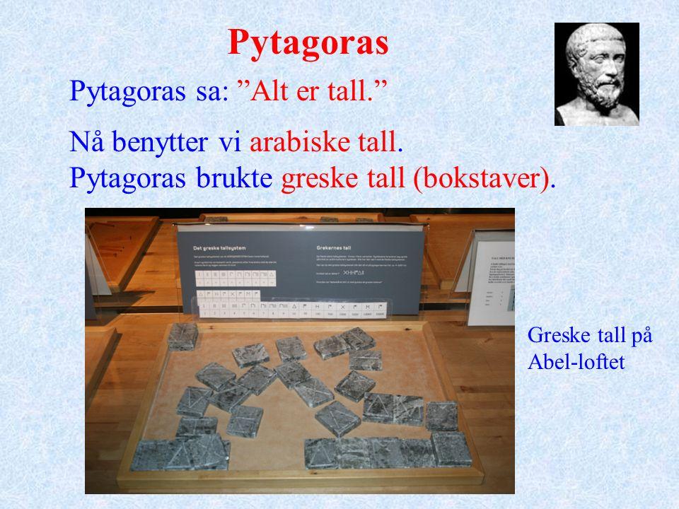 På Abel-loftet finnes et puslespill som viser at Pytagoras sin setning er riktig.