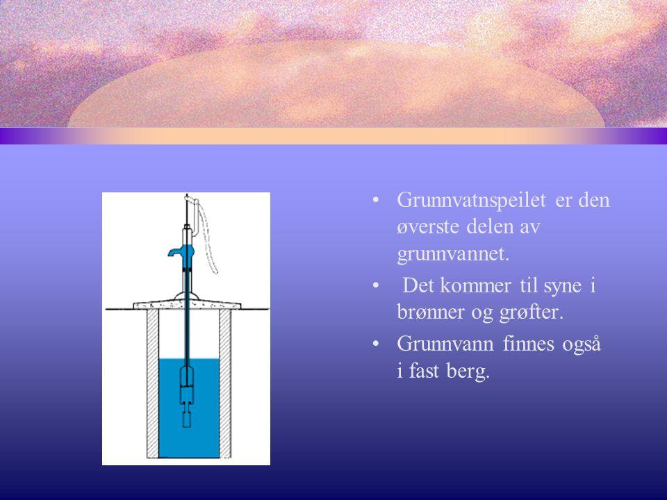 Grunnvatnspeilet er den øverste delen av grunnvannet.
