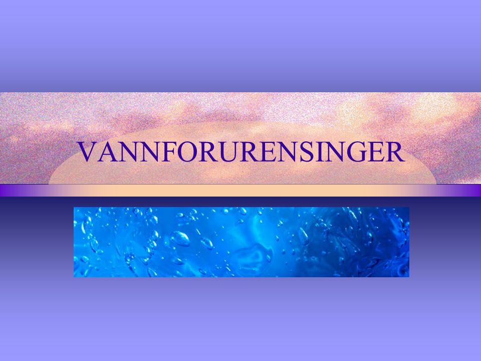 VANNFORURENSINGER