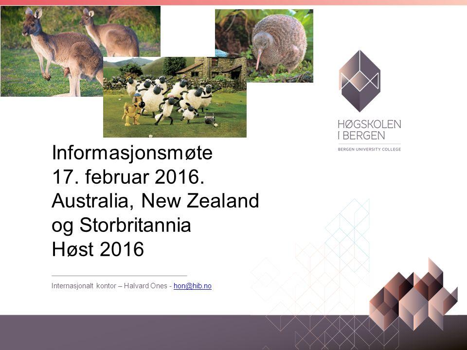 Informasjonsmøte 17. februar 2016.