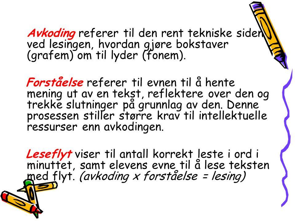 Modellen er en tenkt illustrasjon av normalutviklingen Fra Høien og Lundberg (1997) Dysleksi.