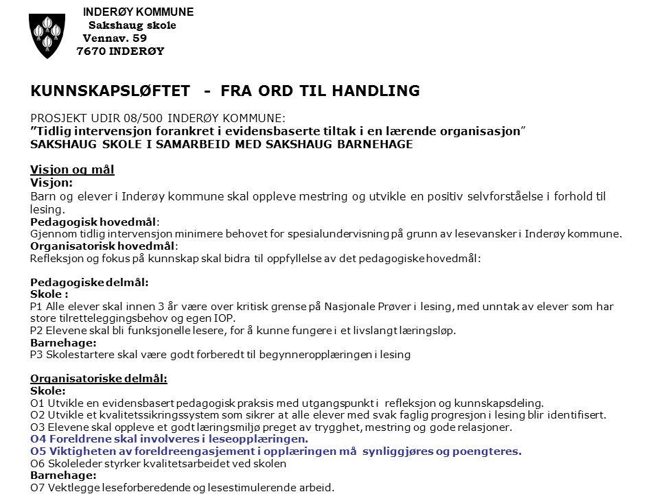 FOREBYGGING AV LESEVANSKER PÅ 1.OG 2.