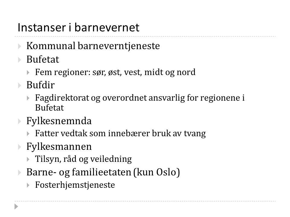 Omsorgskommunens ansvar II Kilde: Tilsynsveilederen punkt 2 og bvl.