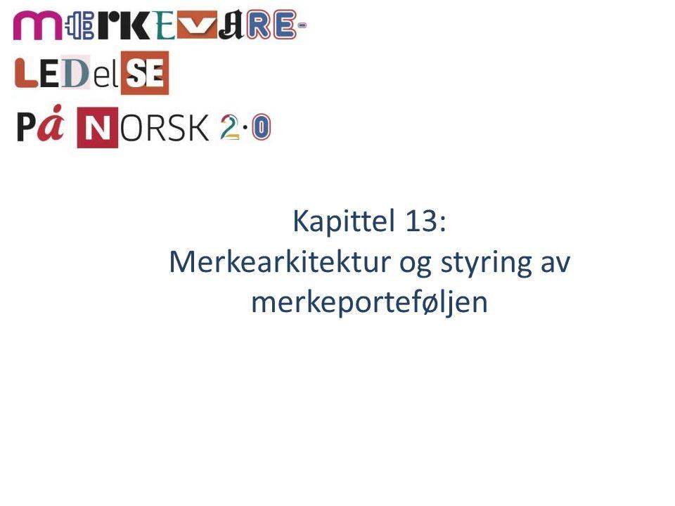 Kapittel 13: Merkearkitektur og styring av merkeporteføljen