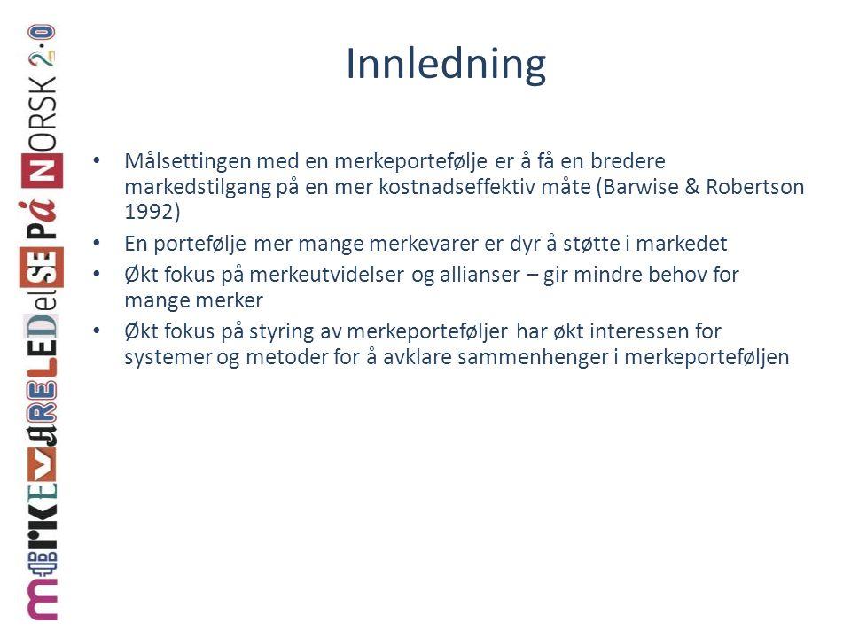 Steg 3: Posisjoneringsanalyse 1.Hvor sterkt er merket i dag.