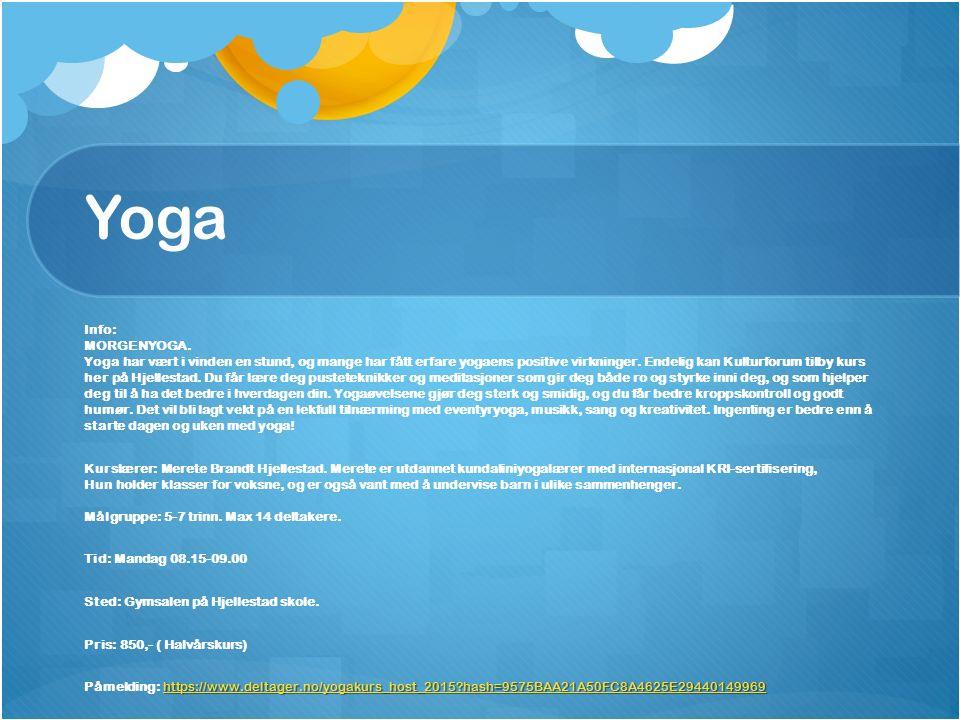 Yoga Info: MORGENYOGA.