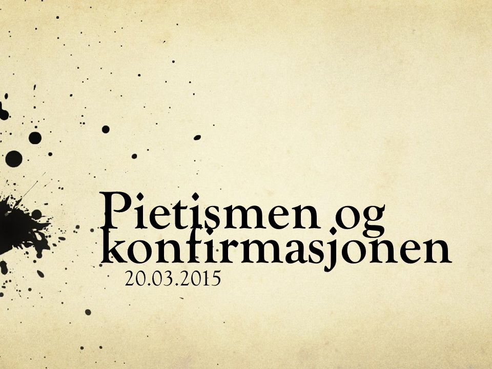 Å vekke folket Pietisme kaller vi den retningen som kom til Norge på begynnelsen av 1700-tallet.