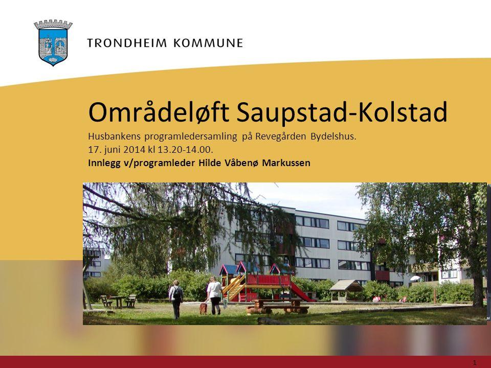 Foto: Geir Hageskal Områdeløft Saupstad-Kolstad Husbankens programledersamling på Revegården Bydelshus.
