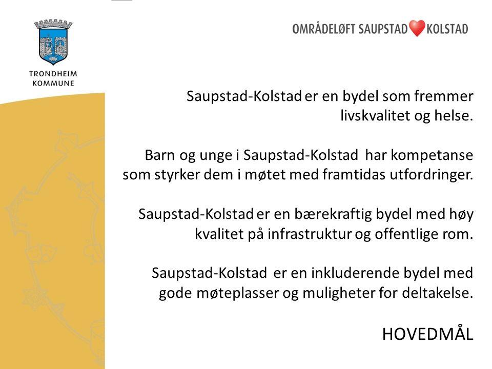 Saupstad-Kolstad er en bydel som fremmer livskvalitet og helse.