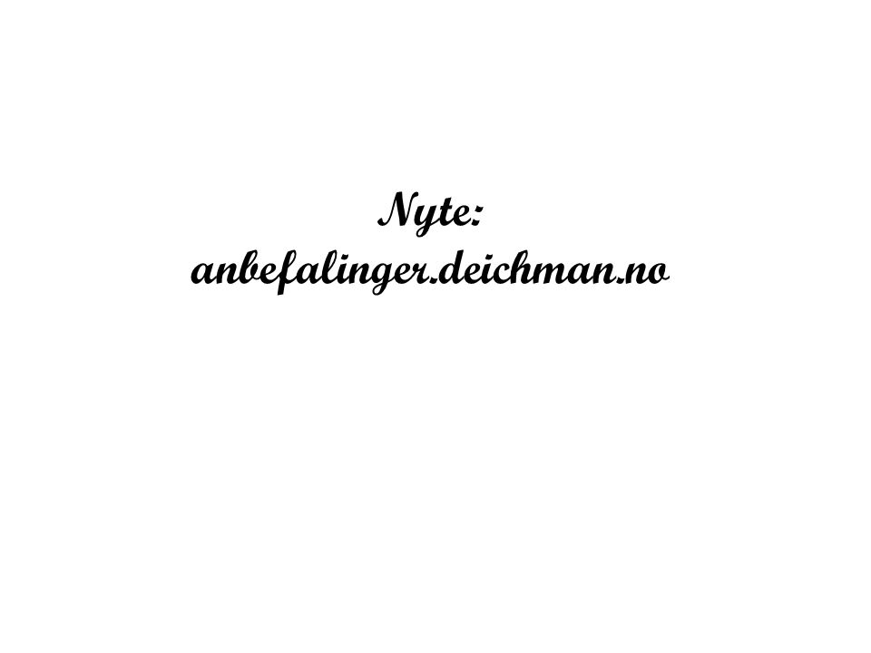 Nyte: anbefalinger.deichman.no