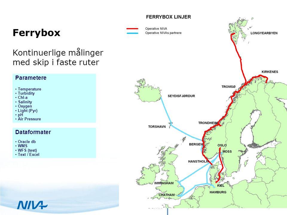 22. september 2016 5Selvik Sanntid FERRYBOX data som WMS-tjeneste i AquaMonitor