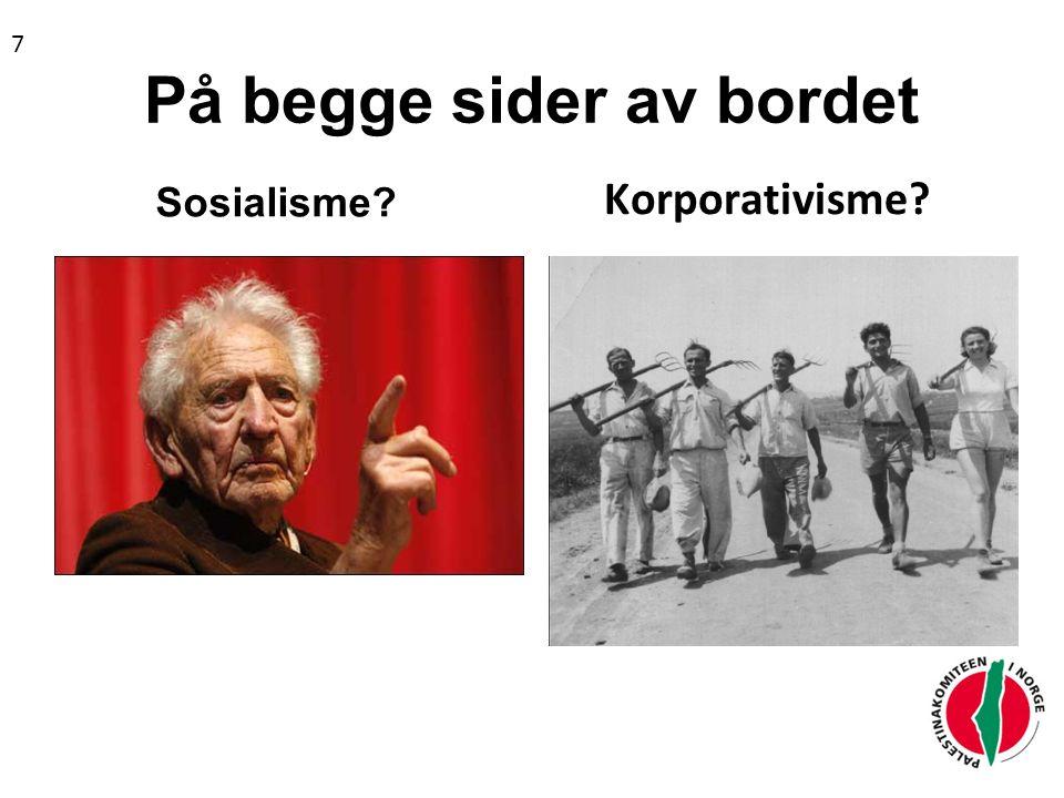 På begge sider av bordet Sosialisme? Korporativisme? 7