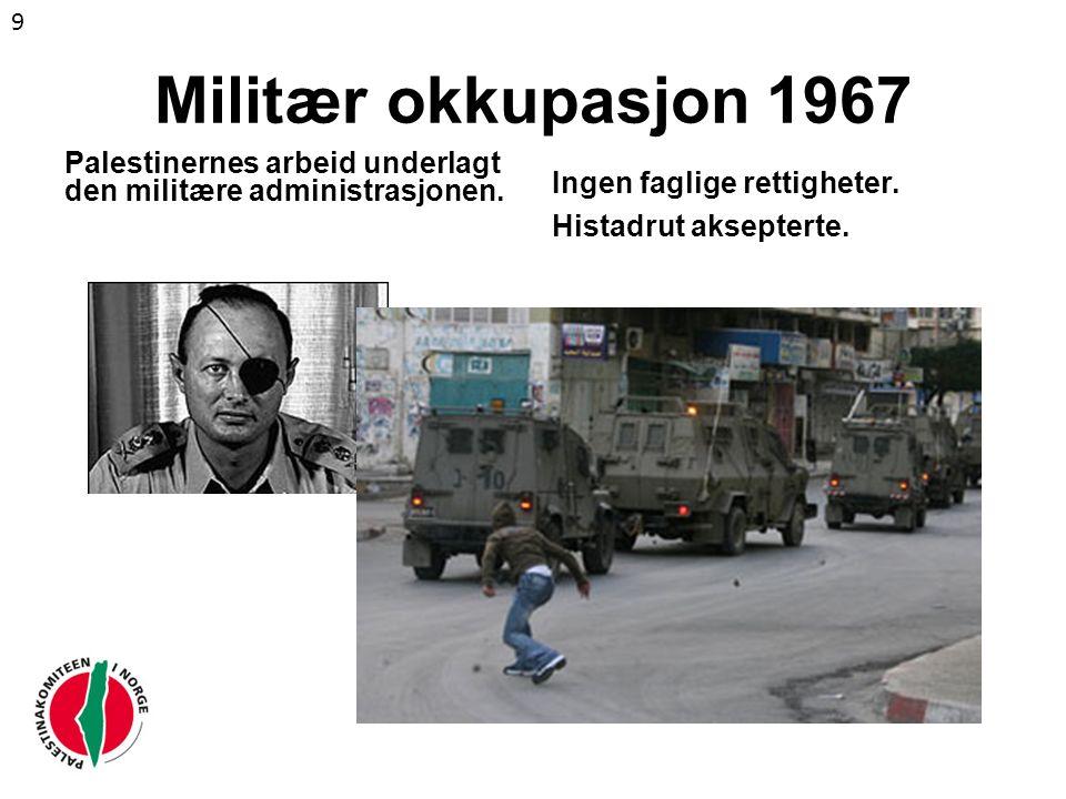 Forfølging og fengsling av fagforeningsfolk Histadrut gjorde ingenting 10