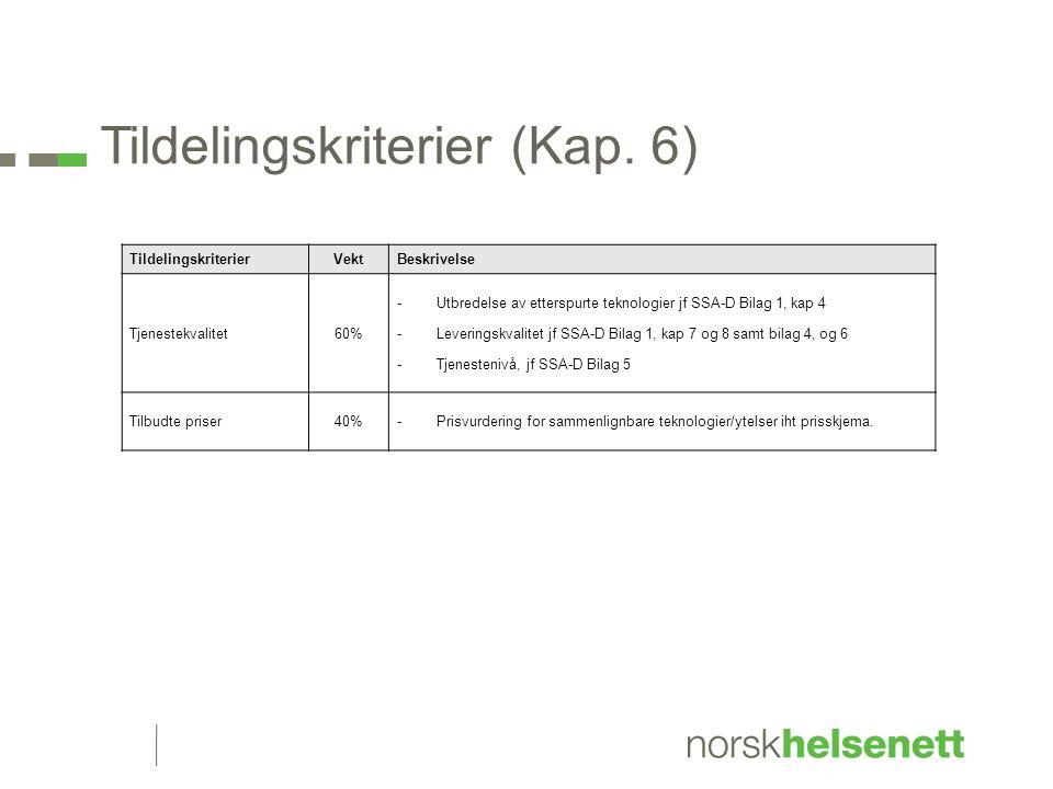 Tildelingskriterier (Kap.