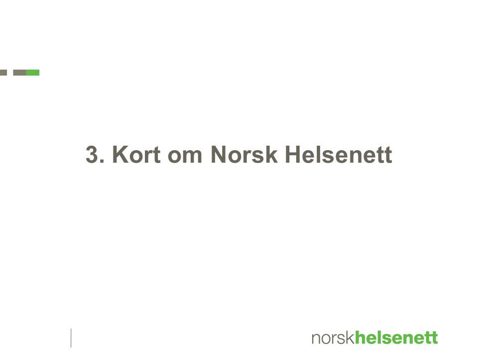 3. Kort om Norsk Helsenett