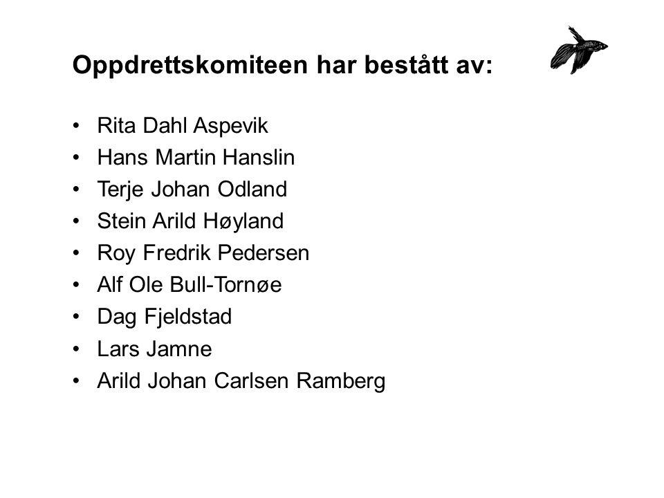 Oppdrettskomiteen har bestått av: Rita Dahl Aspevik Hans Martin Hanslin Terje Johan Odland Stein Arild Høyland Roy Fredrik Pedersen Alf Ole Bull-Tornø