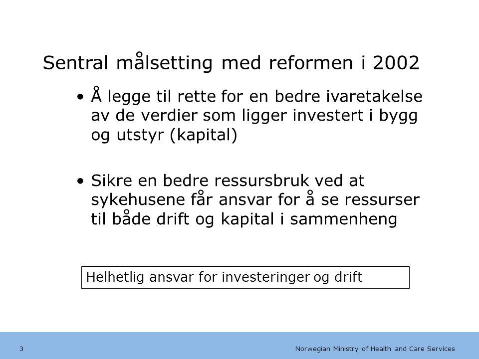 Norwegian Ministry of Health and Care Services Tips bunntekst: For å få bort sidenummer, dato, samt redigere tittel på presentasjon: Klikk på Sett Inn -> Topp og bunntekst -> Huk av for ønsket tekst.