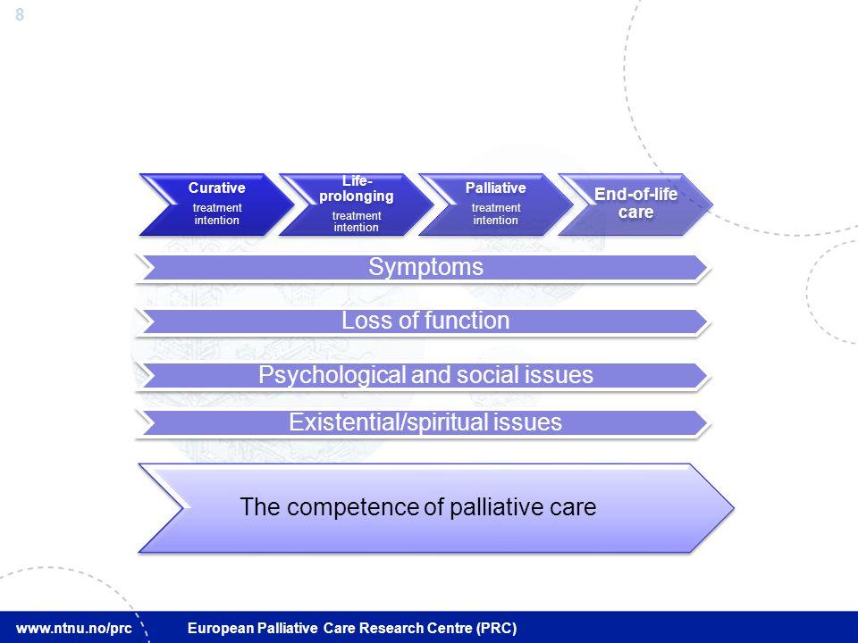 19 www.ntnu.no/prc European Palliative Care Research Centre (PRC) –To forhold er viktigst: Dels er det å kunne være her i verkstedet å kunne arbeide Og så er det å være sammen med min nærmeste kjernefamilie 24.