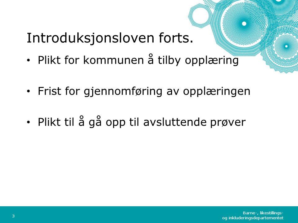 Barne-, likestillings- og inkluderingsdepartementet Norsk mal: Tekst med kulepunkter - 1 vertikalt bilde Tips bilde: For best oppløsning anbefales jpgformat.
