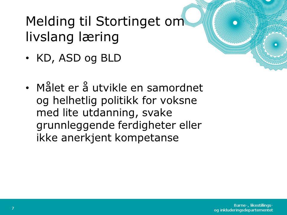 Barne-, likestillings- og inkluderingsdepartementet Norsk mal: Tekst med kulepunkter – 4 vertikale bilder Tips bilde: For best oppløsning anbefales jpg-formal.