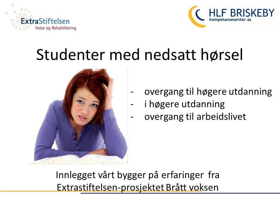Kort om prosjekt Brått voksen 2012-2014 Brått voksens hovedmål var å myndiggjøre studenten til å analysere og ta kontroll over egen studiesituasjon.