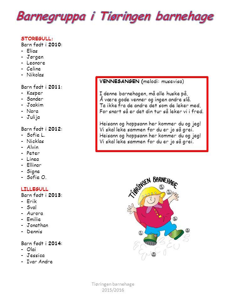 ¤ Planleggingsdager: Vi har 5 planleggingsdager i løpet av ett barnehageår, og disse dagene er barnehagen stengt.