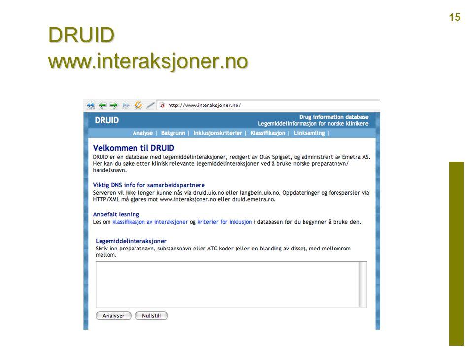 DRUID www.interaksjoner.no 15