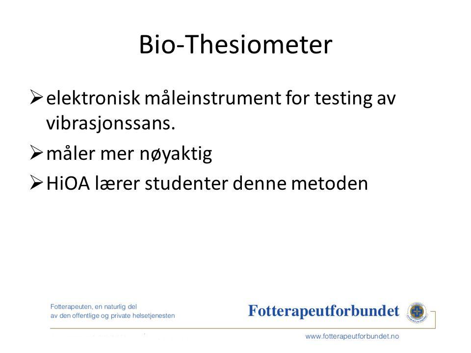 Bio-Thesiometer  elektronisk måleinstrument for testing av vibrasjonssans.